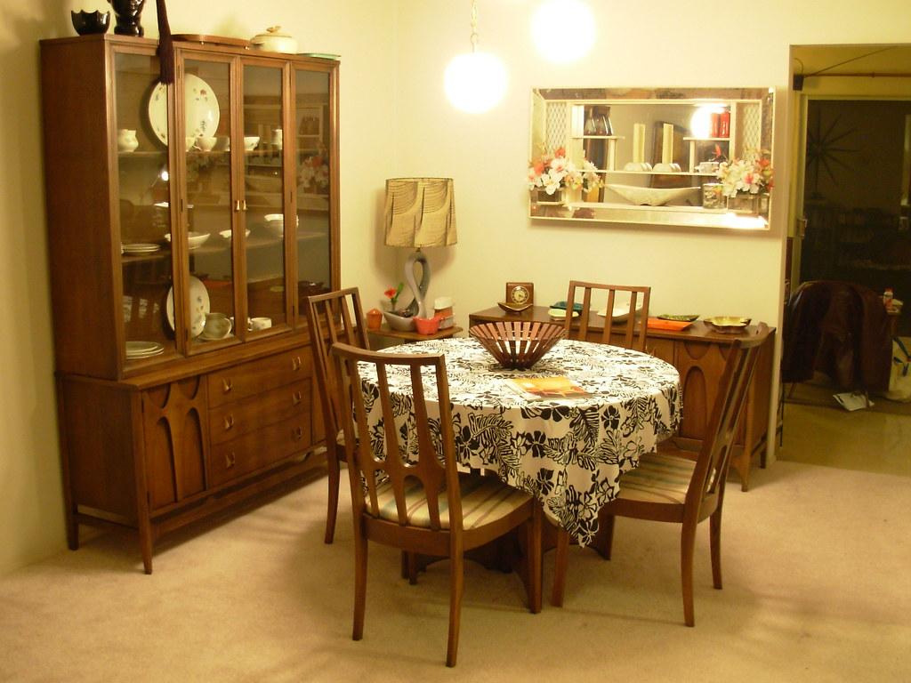 Broyhill Brasilia Dining Room 01   The original set as purch ...
