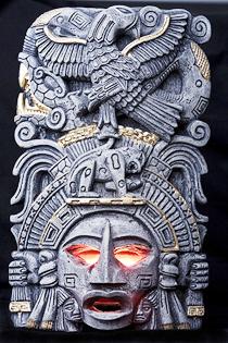 Imagen azteca venerada