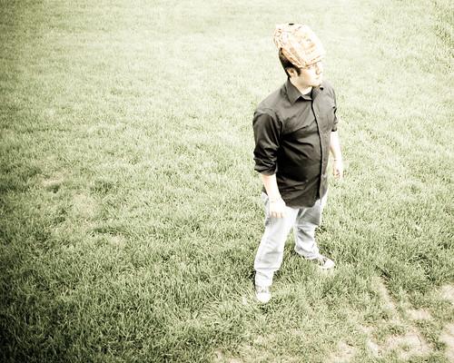 grass hat baseball glove thats fgr