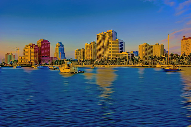 Downtown West Palm Beach, Palm Beach County, Florida, USA