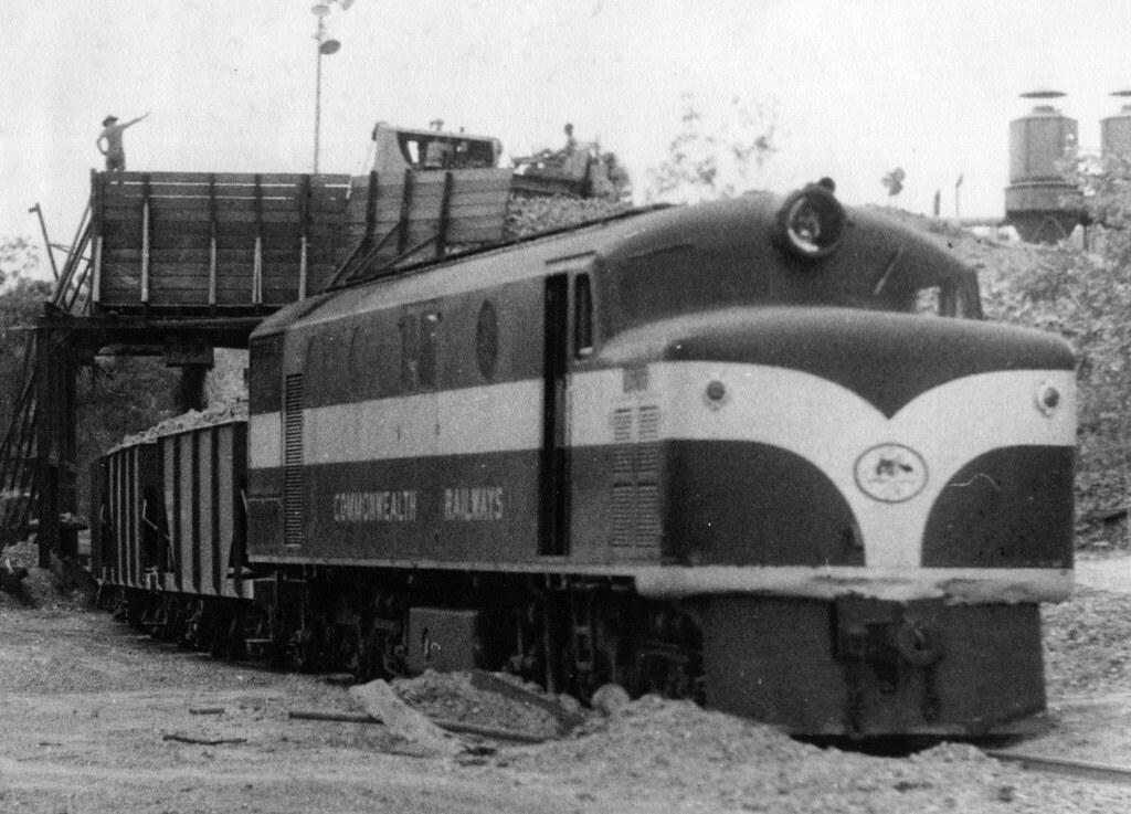 Photograph 0024 - 5ACS RAAF Darwin River Quarry Loading the Train 1959 by Ken Hodge