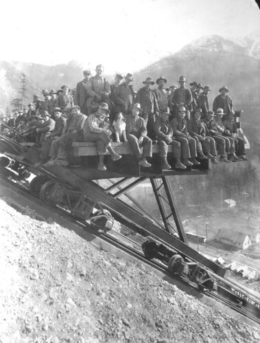 Workers at Diablo Dam, 1928 | by Seattle Municipal Archives