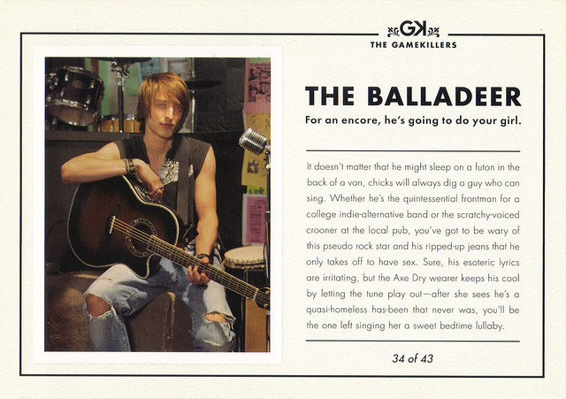 AXE Deodorant THE BALLADEER Ad Postcard
