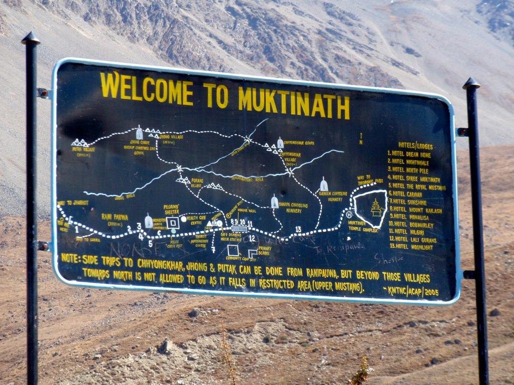 Arriving at Muktinath