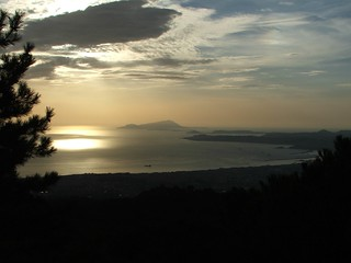 Isle of Ischia and the Bay of Naples from the slopes of Mount Vesuvius - 24 Oct 2006