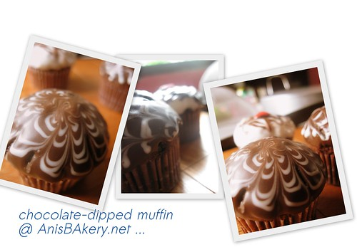 chocolate dipped muffin @ anisbakery.net.net | by AnisBakery.net