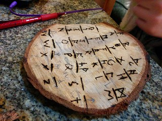 runes and woodburning kit | by Liz Henry