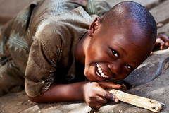 Boy laughing. Portrait, Ouidah, Bénin, Africa. | by E. B. Sylvester
