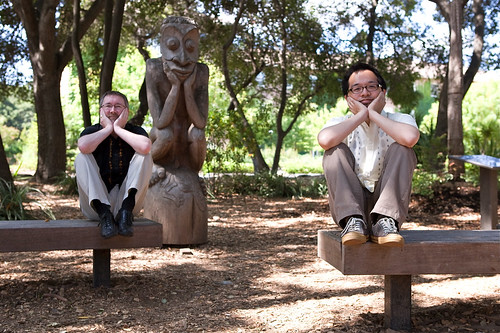 Engagement photos - Papua New Guinea Sculpture Garden, Stanford | by Jeff Tabaco