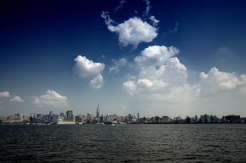 newyorkcity cloud newyork skyline geotagged newjersey cityscape view manhattan esb hudsonriver empirestatebuilding hdr hoboken mudpig stevekelley