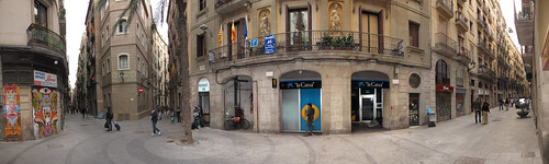 Barcelona intersection panorama | by quinet