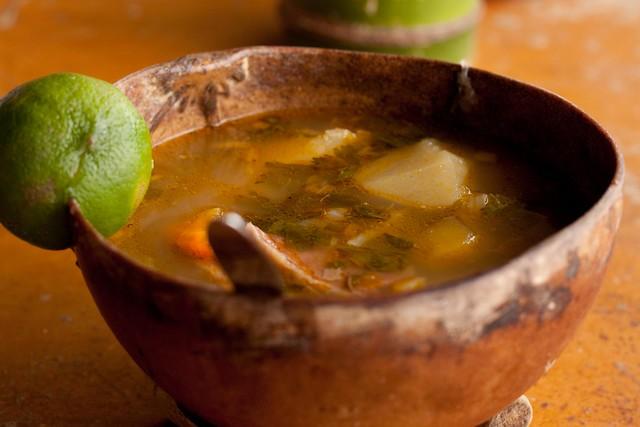 Sopa en totuma