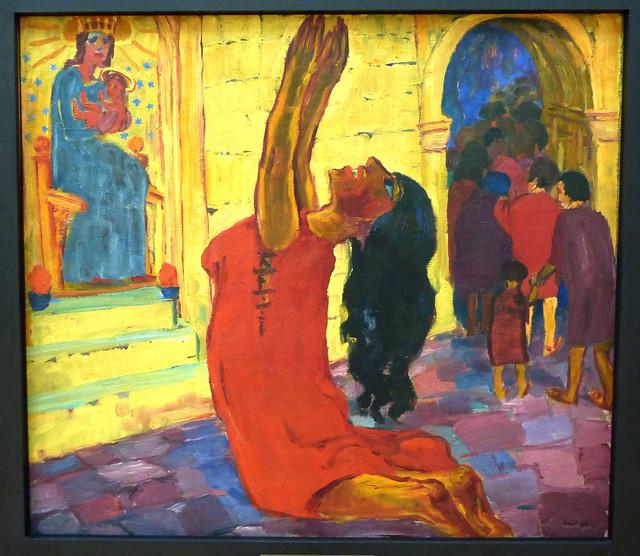 Emil Nolde: Heilige Maria Aegyptiaca - Mitteltafel: Die Bekehrung (1912)