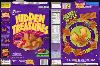 General Mills - Hidden Treasures cereal box - no mascot - 1995
