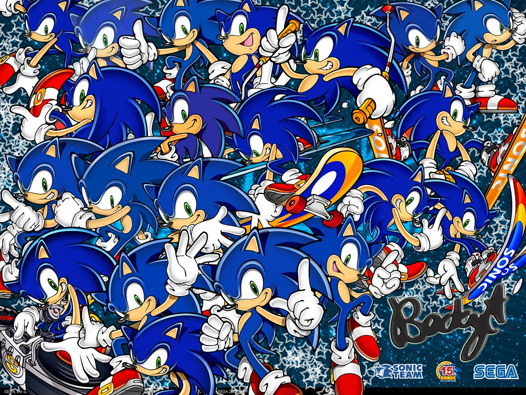 Sonic The Hedgehog Wallpaper Yep Siree I Made This It Wa Flickr