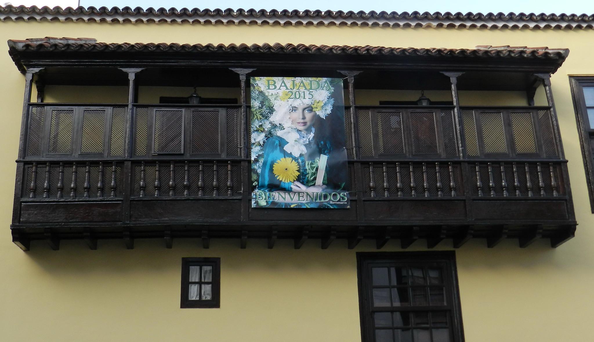 balcon y cartel de Fiestas Lustrales 2015 Santa Cruz de la Palma