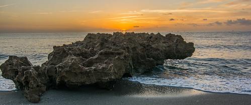 ocean beach nature water rock sunrise coast florida atlantic