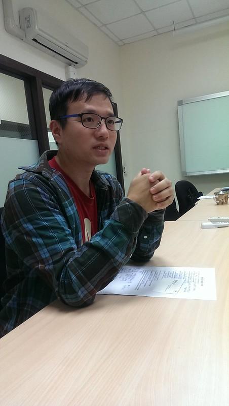 菁英書院tutor楊城。圖/廖婉婷攝。