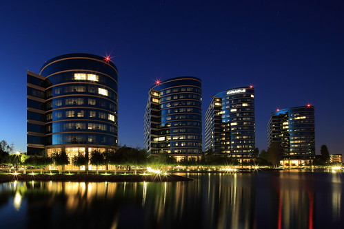 california longexposure blue fountain night campus lights oracle belmont headquarters lagoon startrails redwoodshores