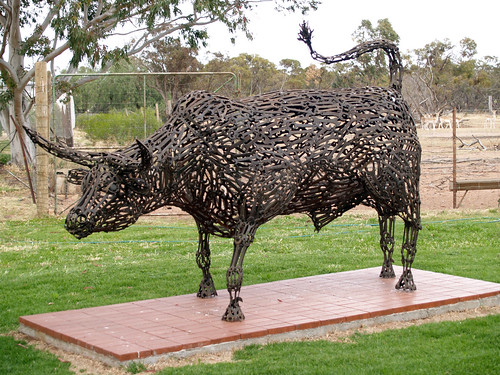 Bull Spanner Sculpture   by bushie