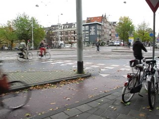 A typical Monday morning commute in Amsterdam.