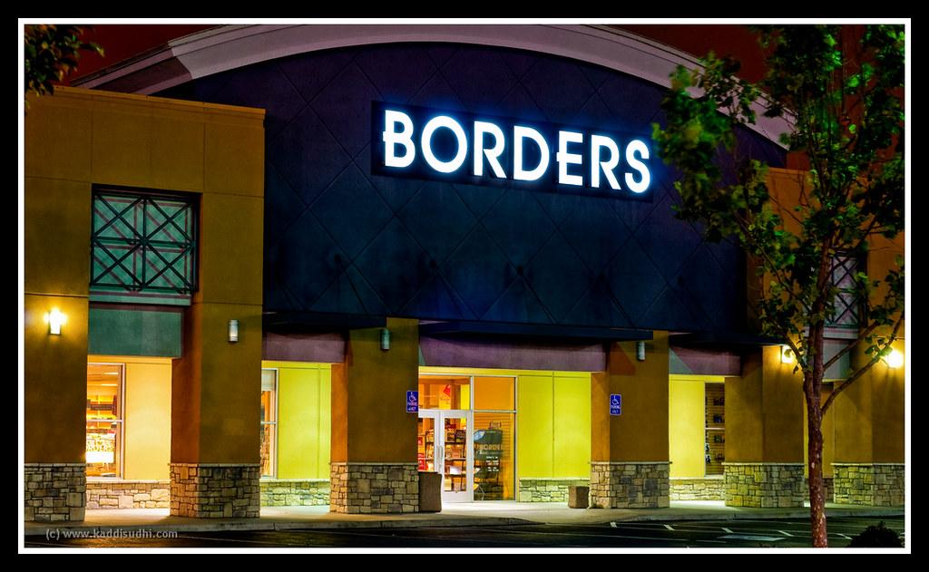 A Borders Store at Night by kaddisudhi