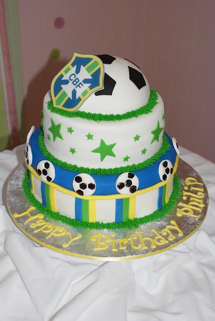 Brazil Soccer Team Cake