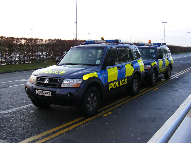 Police Vehicles at Stansted Airport London UK