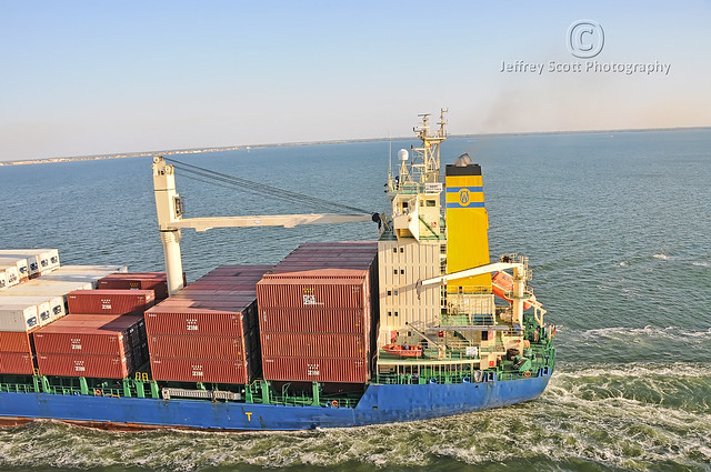 Cargo Ship in the Gulf of Mexico