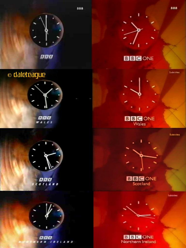 Bbc One Clocks A Compilation Of The Clocks Used On Bbc