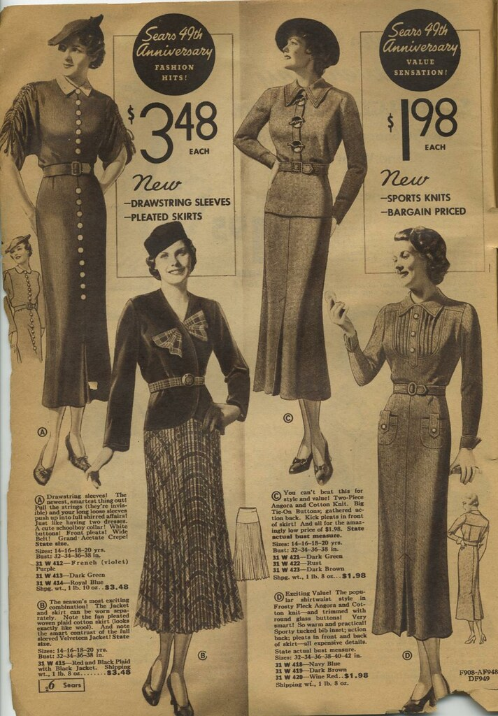 92ffa8ad8cce ... Sears catalogue 1935 - women's skirts, blouses, suits, dresses | by  genibee