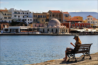 skyline with mosque of chania | by Romtomtom
