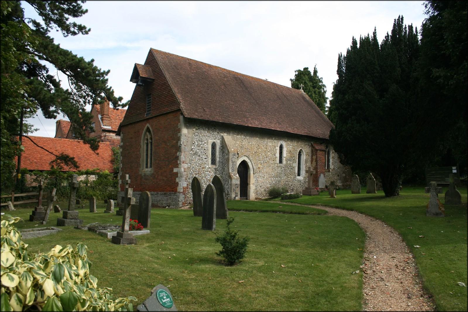 Wanborough church This pretty church was built in the 1200s.