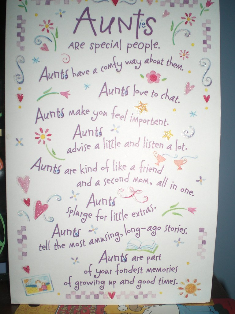 Aunties birthday card! | all quotes on the front are true ...
