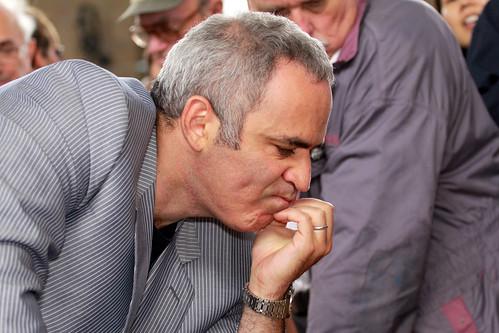 Schach-Weltmeister Garri Kasparow aus Baku/Aserbeidschan