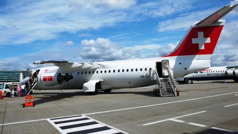 My Plane to Switzerland from London Citiy