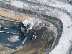 Tar sands developments in Alberta, Canada.