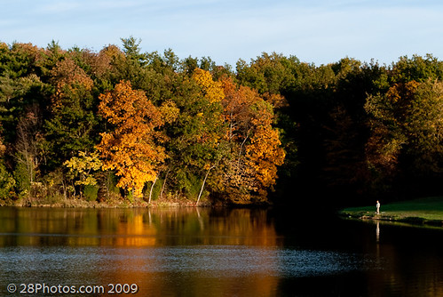 park autumn sunset ohio lake man reflection fall water beautiful leaves fishing fisherman colorful state dusk changing cowan foilage gentleman clarksville nikond60 nikonflickraward noticings 28photos 28photoscom photographybybillyfairchild