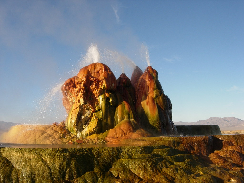 Fly Geyser, near Gerlach, Nevada