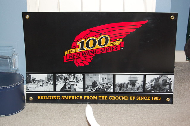 Red Wing Shoes 1905 to 2005 Banner!