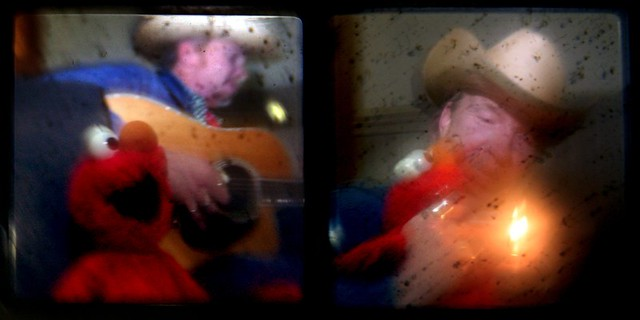 Elmo and Alvin; diptych
