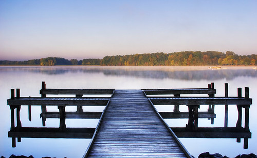 lake color reflection fall water leaves fog pier nc dock foggy northcarolina fallfoliage foliage waxhaw canecreekpark ghholt thepinnaclehof storybookwinner tphofweek15