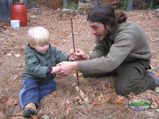 Teaching The Hand Drill   by Jack Mountain Bushcraft School