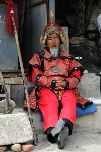 Snoozing Mongol