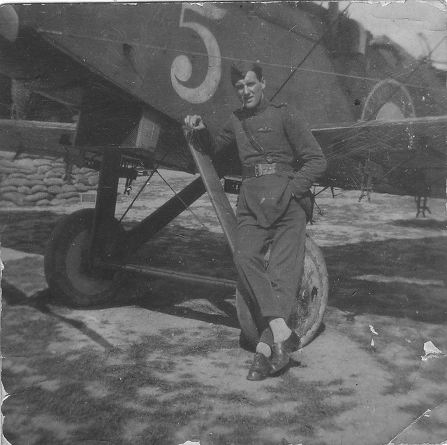 WWI Pilot, Bristol Fighter, RAF Crail, Scotland 1919