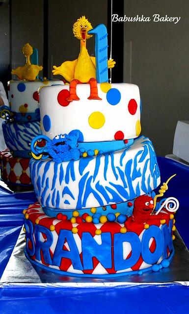 Sesame St. Tipsy Cake