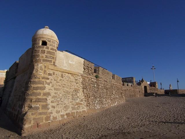 Baluarte del  Orejón en la Playa de La Caleta,Cádiz