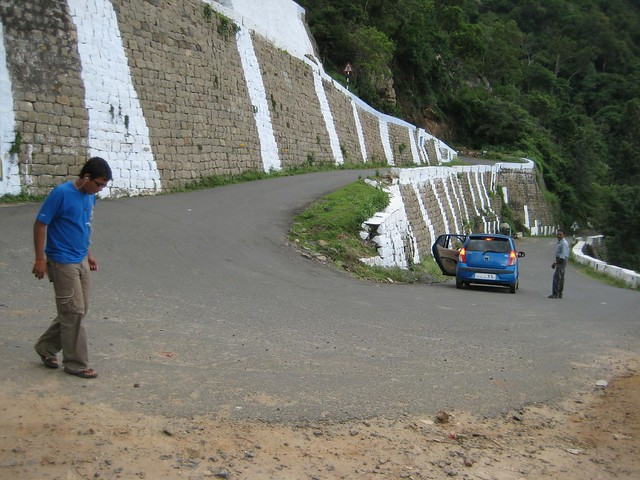 Two of the 70 hairpin bends