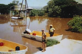 1971-72 - Operation Ord Noah - Argyle Downs 03 - Henry Hall - Bob Dear in boat - KHS-2013-31-b-P-BD-20