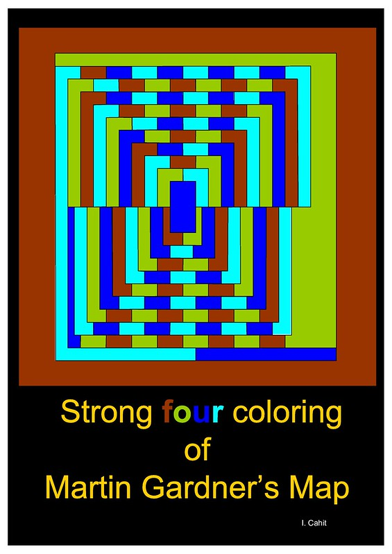 Strong four coloring of Martin Gardner's Map